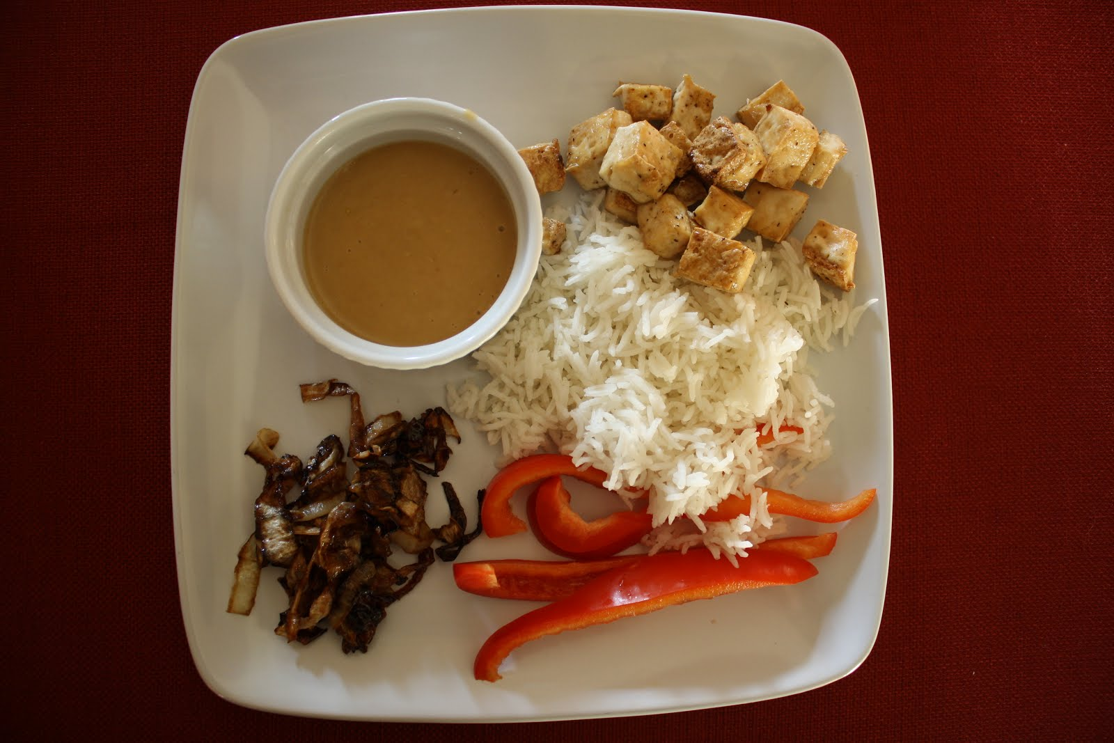 Lactose-Free Girl: Awesome Sauce with Roasted Tofu
