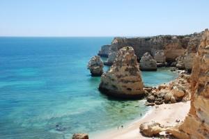 Praia da Marinha Portugalia Algarve plaże przewodnik najlepsze najpiękniejsze
