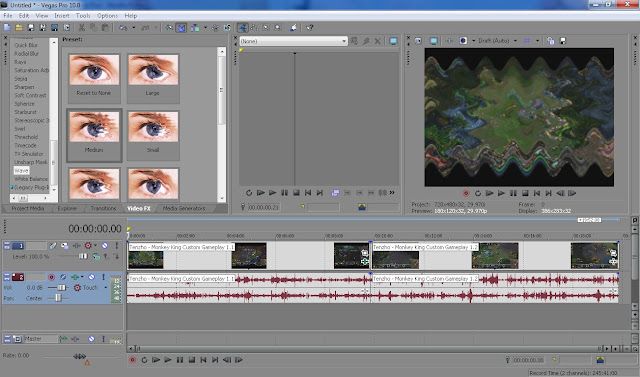 Sony Vegas Video editor has many cool effect which you can use to implement to your media