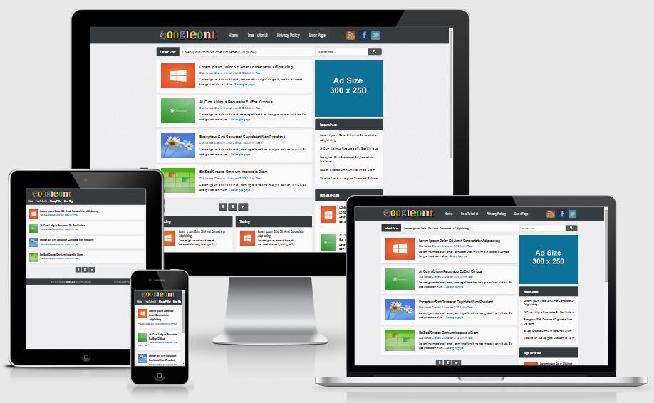 Googleont Responsive Blogger Template