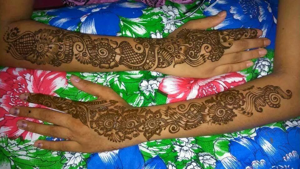 Mehndi For Teenage Girls : Beautiful latest simple arabic pakistani indian bridal girl mehndi