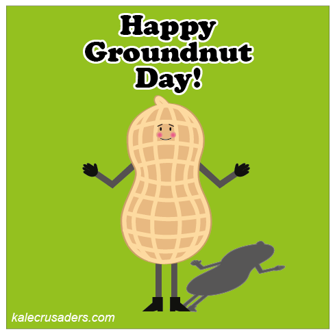 Happy Groundnut Day, Happy Groundhog Day, Peanut, Shadow