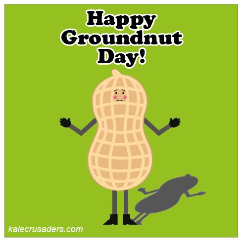 Happy Groundnut Day, Happy Groundhog Day, Peanut, Shadow