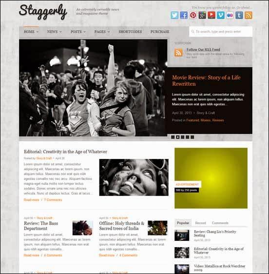 Staggerly - Responsive News, Magazine & Blog Theme