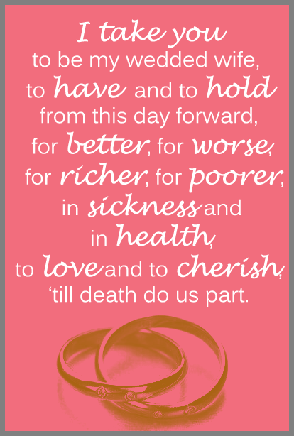 writing my own wedding vows
