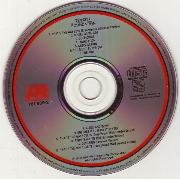 Retro disco hi nrg ten city 39 foundation 39 album 1989 for Classic underground house music