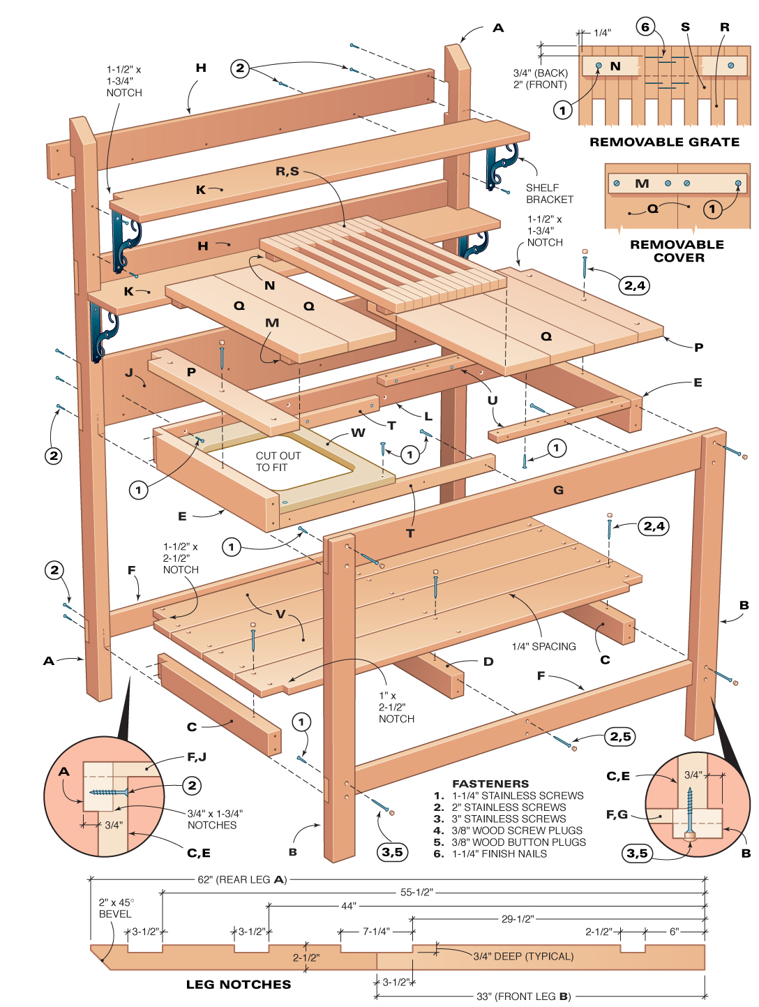 Woodworking plans and simple project ideas wood free for Garden potting bench designs