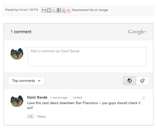 google+ comment on blogger