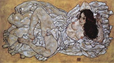 Egon Schiele - Femme allongée,1917