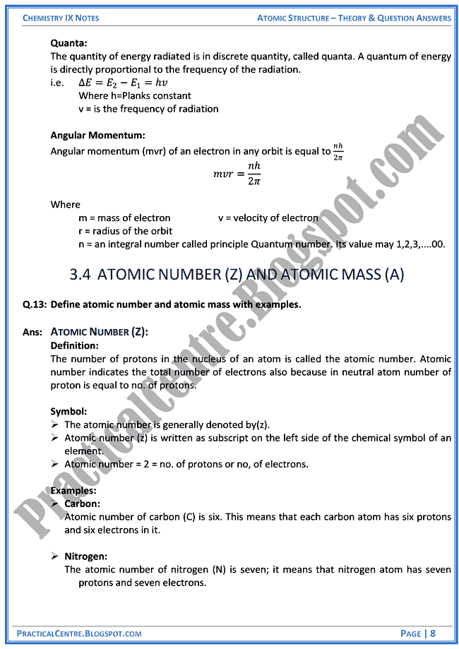 atomic-structure-theory-and-question-answers-chemistry-ix