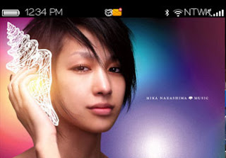 1 1111221306350 L Mika Nakashima themes for blackberry 9650,9700,9780 os6.0