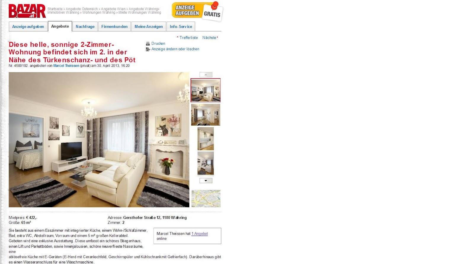 April 2013 Informationen über Wohnungsbetrug