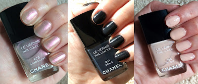 Chanel, Chanel Etats Poetiques Fall 2014 Collection, Chanel Le Vernis Nail Colour, Chanel Atmosphere, Chanel Orage, Chanel Secret, nails, nail polish, nail varnish, nail lacquer, manicure, swatches, comparison swatches, nails