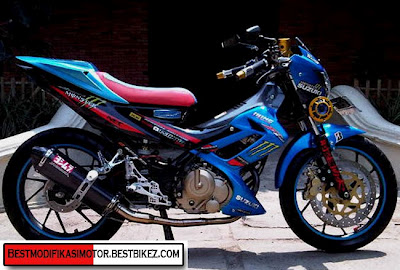 Contoh gambar Modifikasi Suzuki Satria FU 150 Minimalis