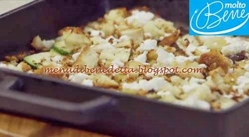 Verdure con Crumble di Pane e Feta ricetta Parodi per Molto Bene su Real Time