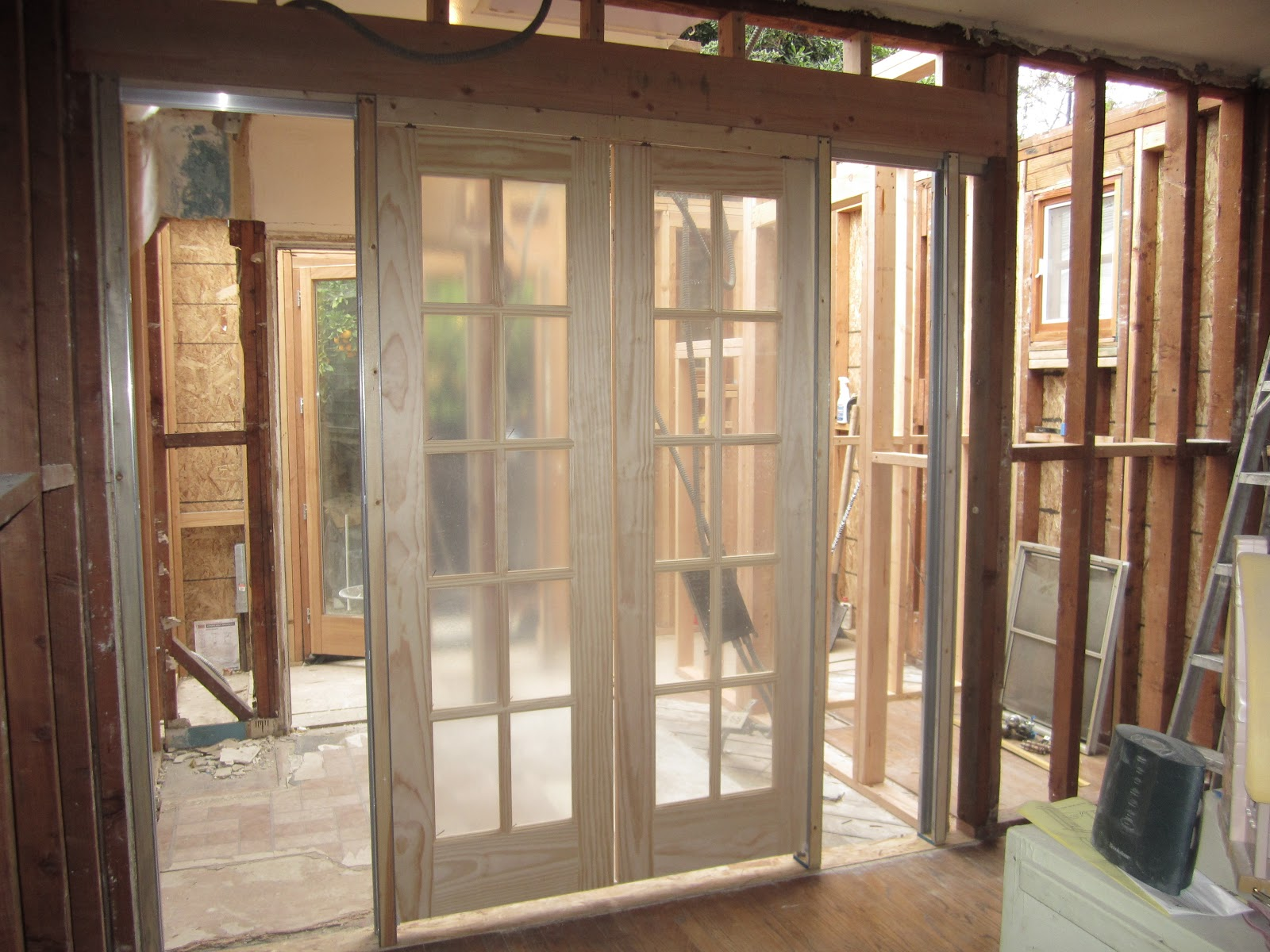From purdue to provence the kids 39 bathroom inspiration for Pocket french doors interior