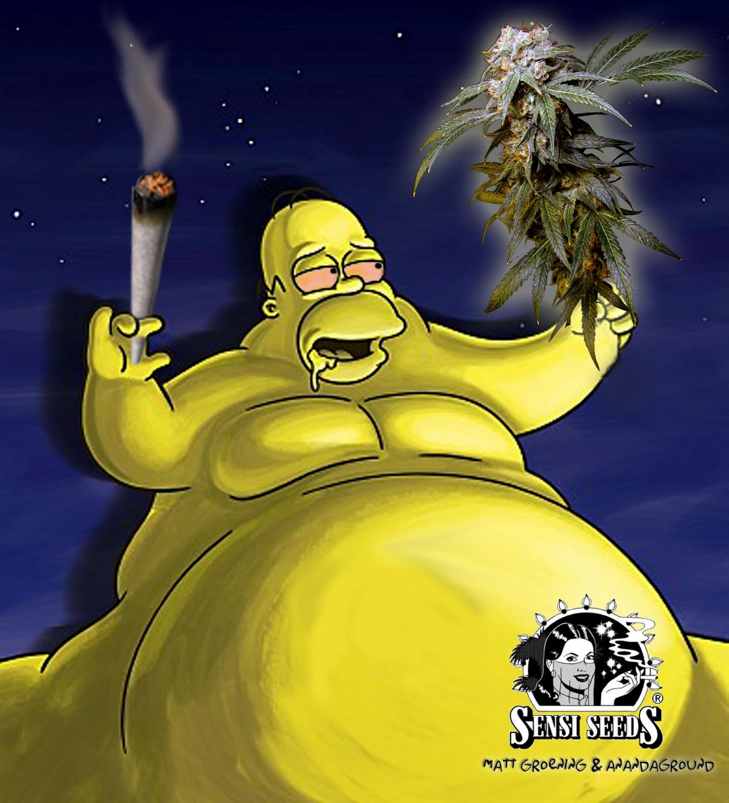 HOMER SIMPSONS: Homer gordo y fumando marihuana!!