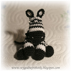How to make a little crochet zebra