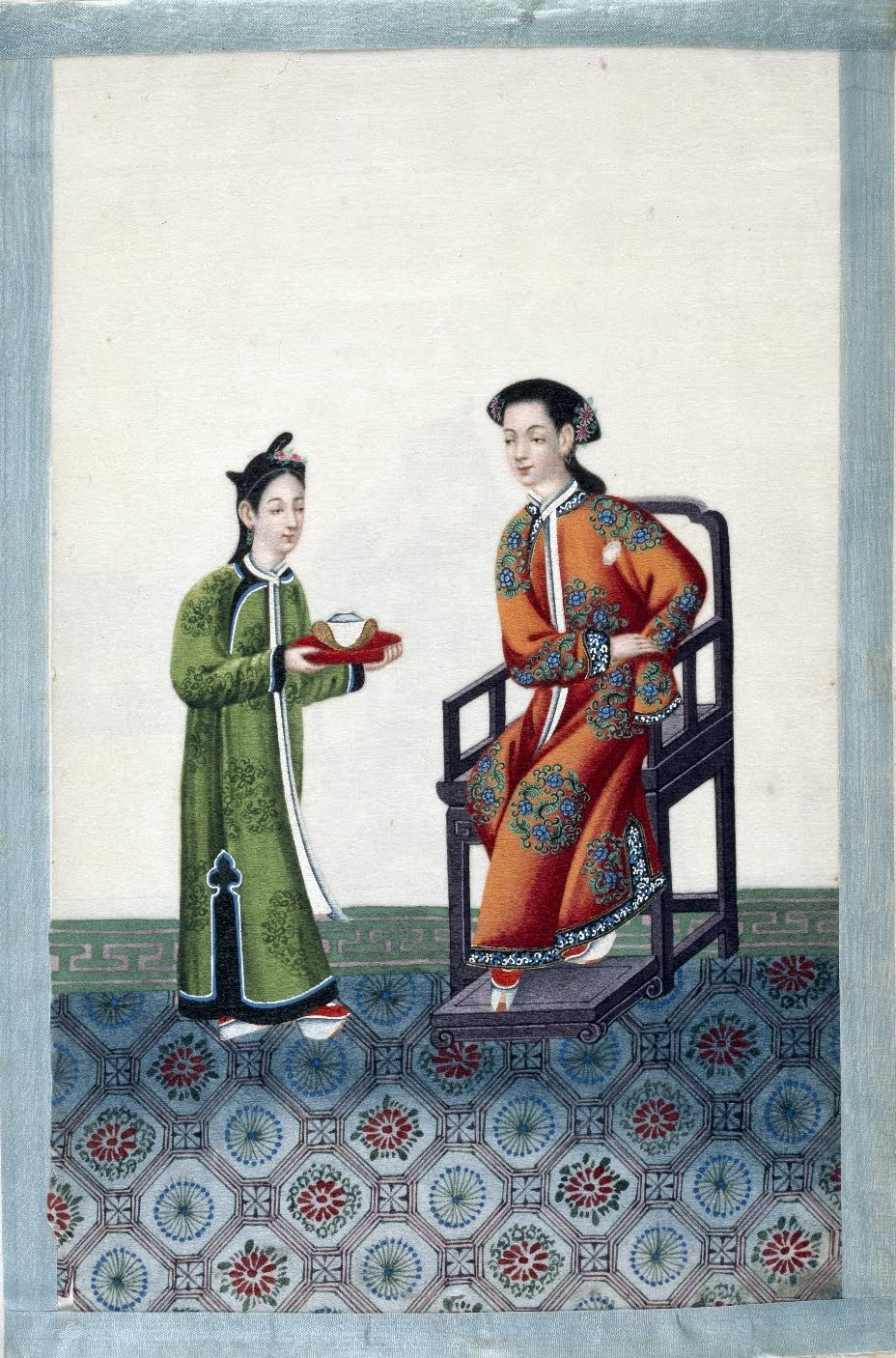 nobleman + servant in China