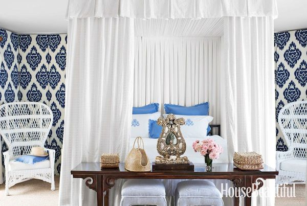 All Time Favorite Patterns Is The Kalah Blue Pattern By Duralee You See It Everywhere Remember This AMAZING Bedroom From House Beautiful Last Year