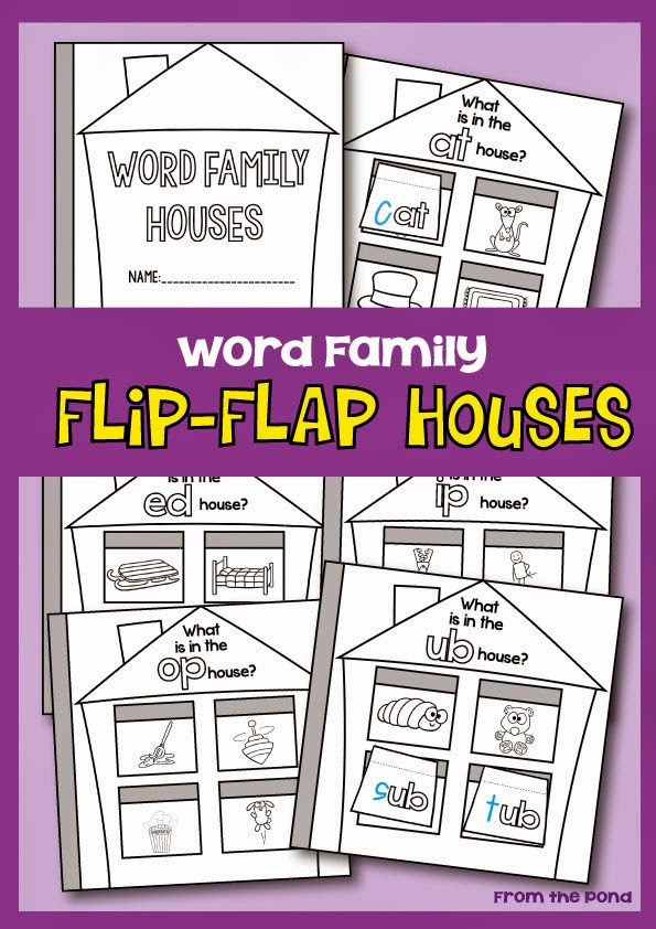 Word family flip flap houses from the pond for What does it mean to flip a house