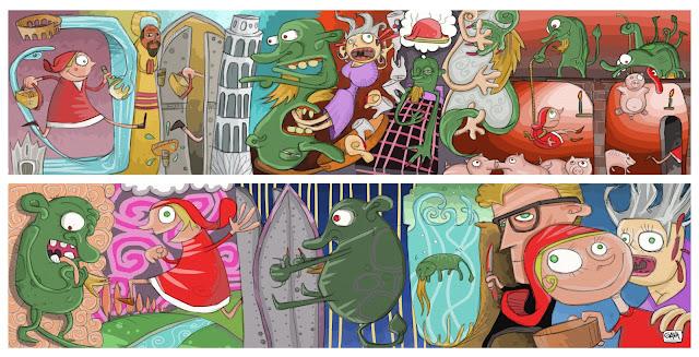 Pubblico Ascani Celestini Gava Satira Vignette  Inserto per bambini favola gavavenezia gavavenezia.it illustrazioni