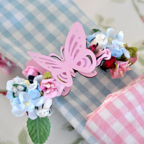 Butterfly floral napkin holders by Torie Jayne