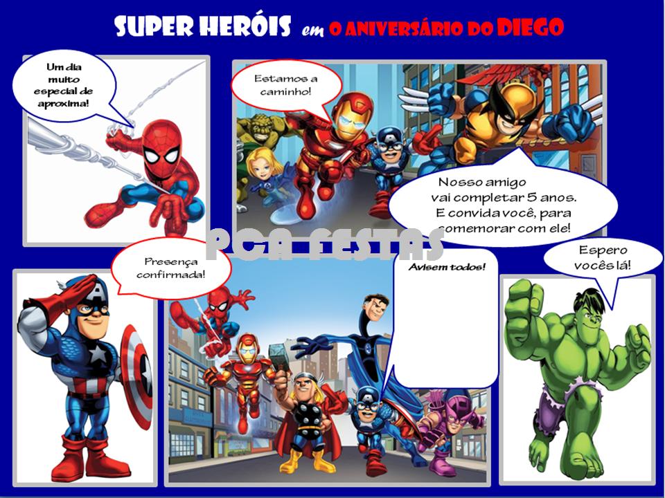 Papéis Colheres E Afins Festa Clean Super Heróis Diego 5 Anos