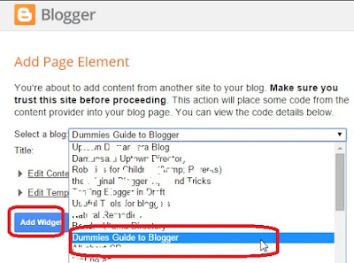Add LinkWith gadget in Blogger Dashboard