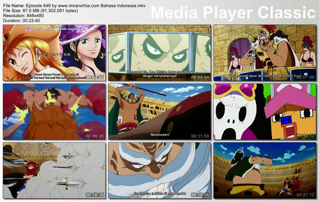 Download Film One Piece Episode 646 (Bajak Laut Legenda! Don Chinjao!) Bahasa Indonesia