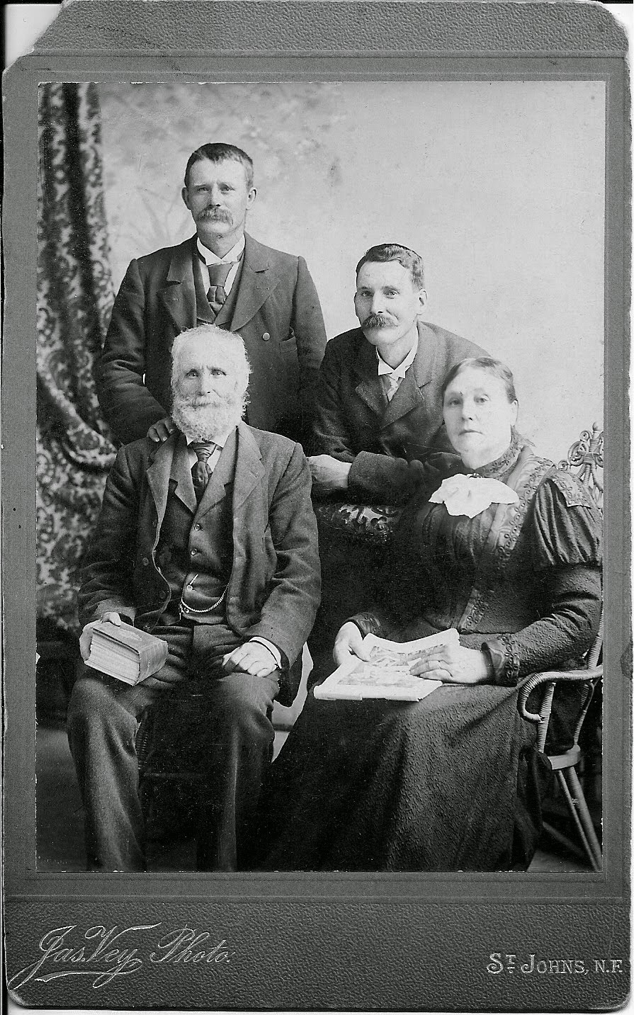 Jabez Butler and Emma Winsor with sons John Jennings (standing) and Jabez Henry Butler
