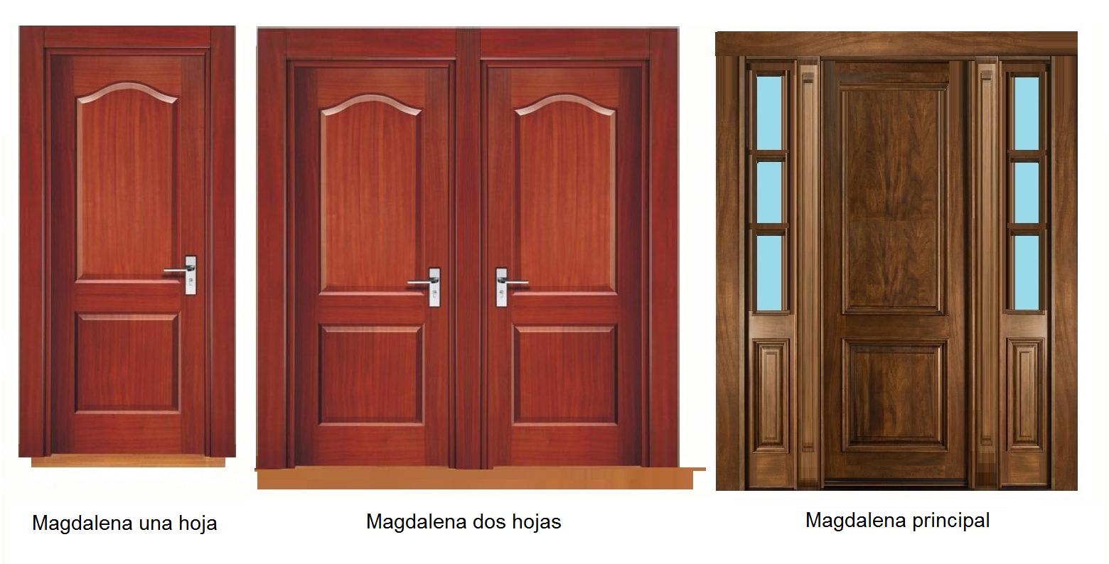Puertas de madera s lida lolo morales furniture for Estilos de puertas de madera