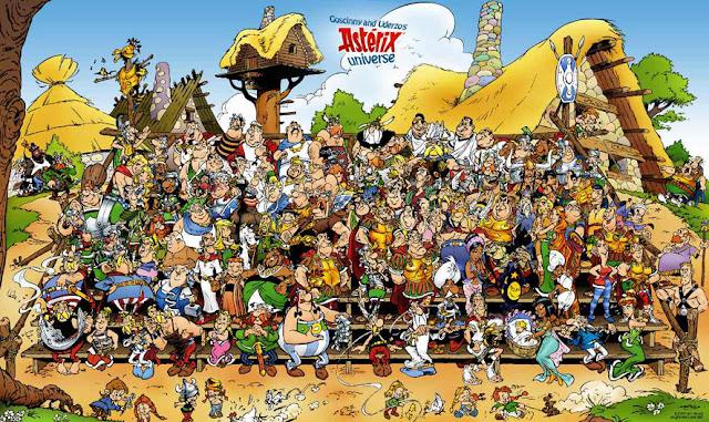 Posado de los personajes creados por Goscinny y Uderzo