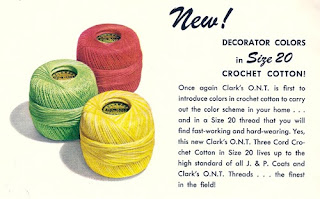 Coats & Clark's Thee Cord Crochet Cotton Thread Size 20