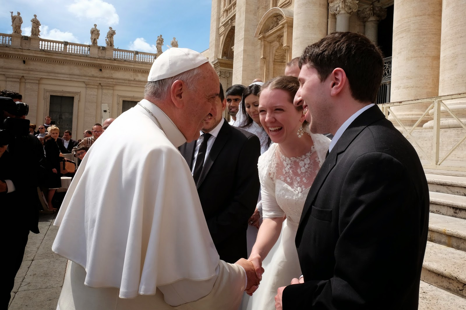 papal audience newlyweds