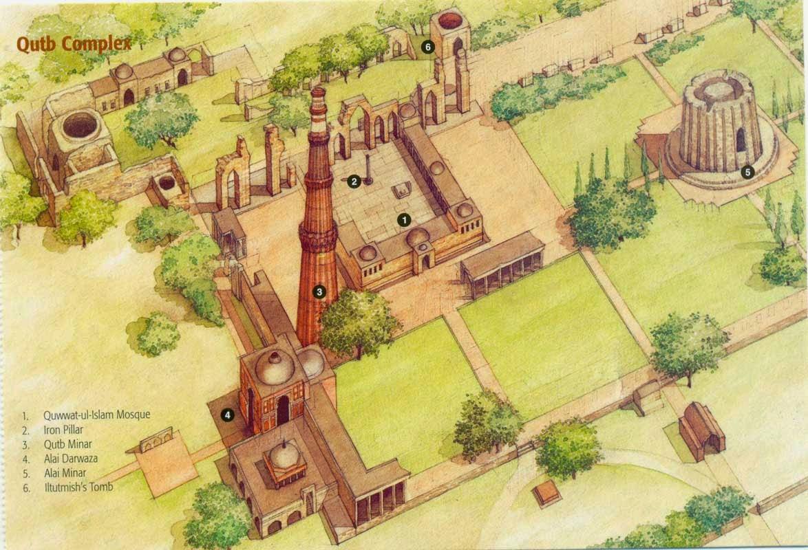 Qutub Minar Iron Pillar Inscriptions Out Of The Book!: Delh...