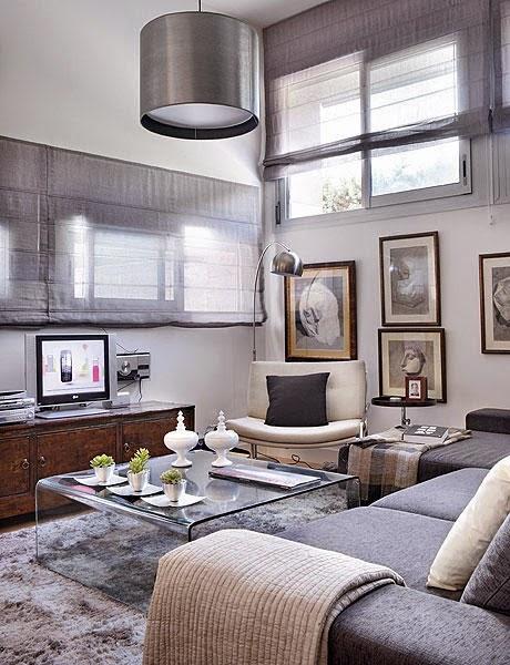Mini apartamento de 48 m² en gris y plata