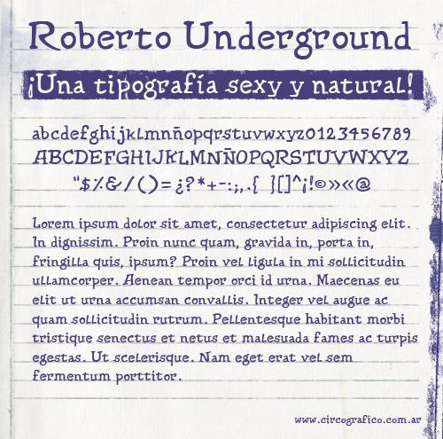 Roberto Underground Type Preview