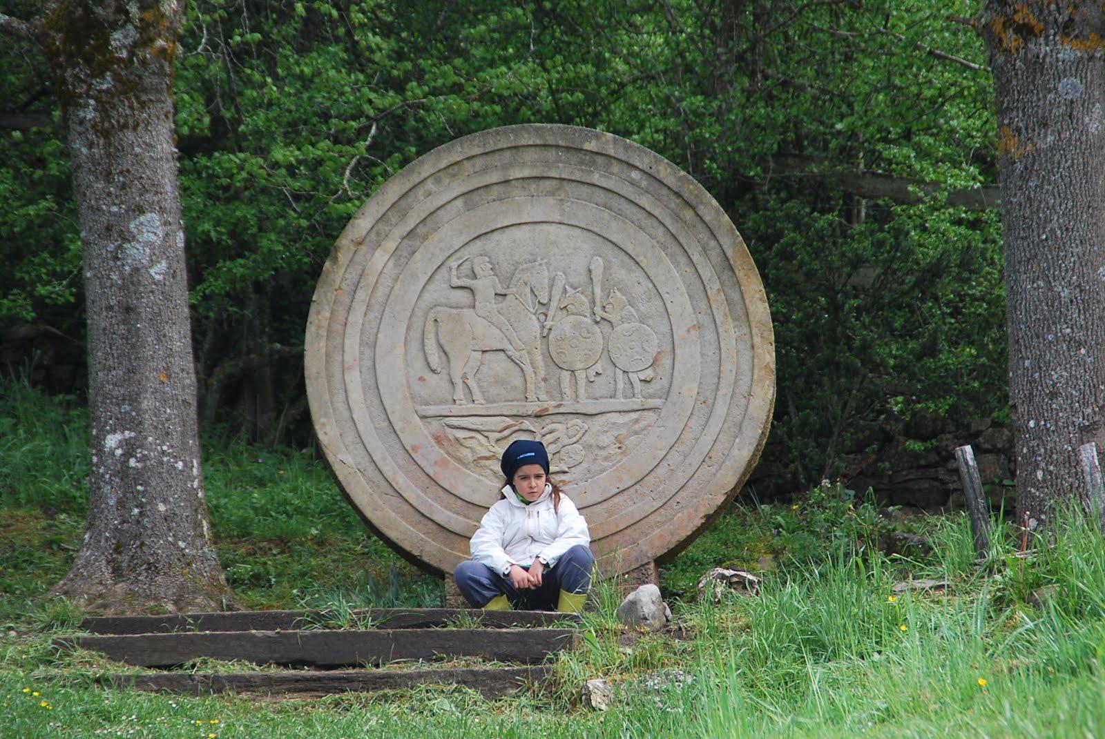 Reproducción de la estela de Zurita
