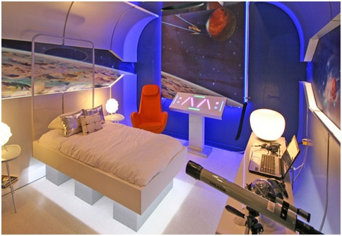 Starship bedroom for teenagers from Extreme Makeover Home Edition   Spacecraft dormitory for boys. STARSHIP BEDROOM EXTREME MAKEOVER HOME EDITION BOYS BEDROOMS