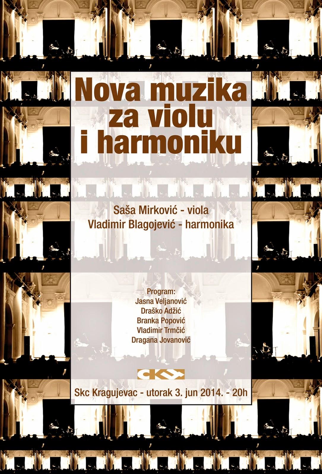Nova muzika za violu i harmoniku