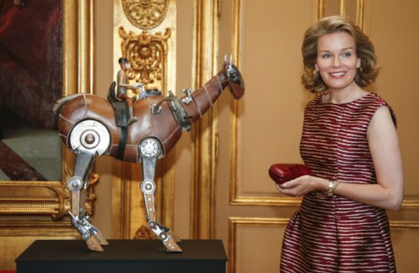 Queen Mathilde of Belgium the inaugurated the exhibition, @yourservice, at the Egmont Palace in Brussels