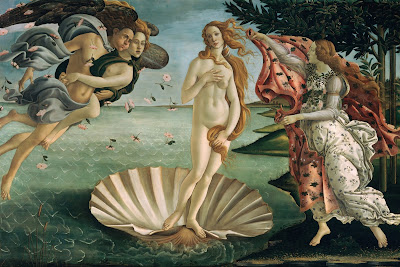 "Famous Painting ""The Birth of Venus"" by Sandro Bottecelli,1486"