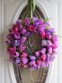 Guirnalda de tulipanes rosa