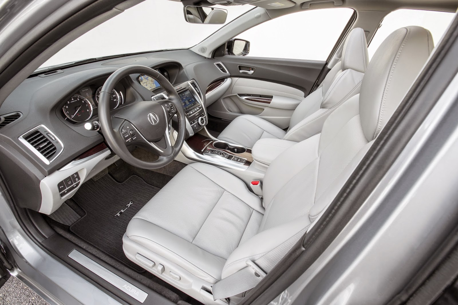 Interior view of 2015 Acura TLX.
