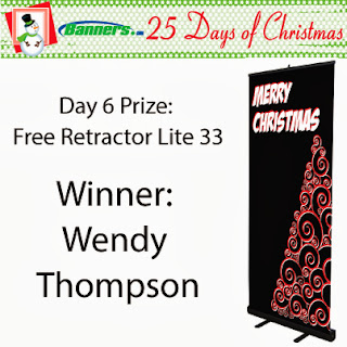 Banners.com 25 Days of Christmas Giveaway - Day 6 Winner