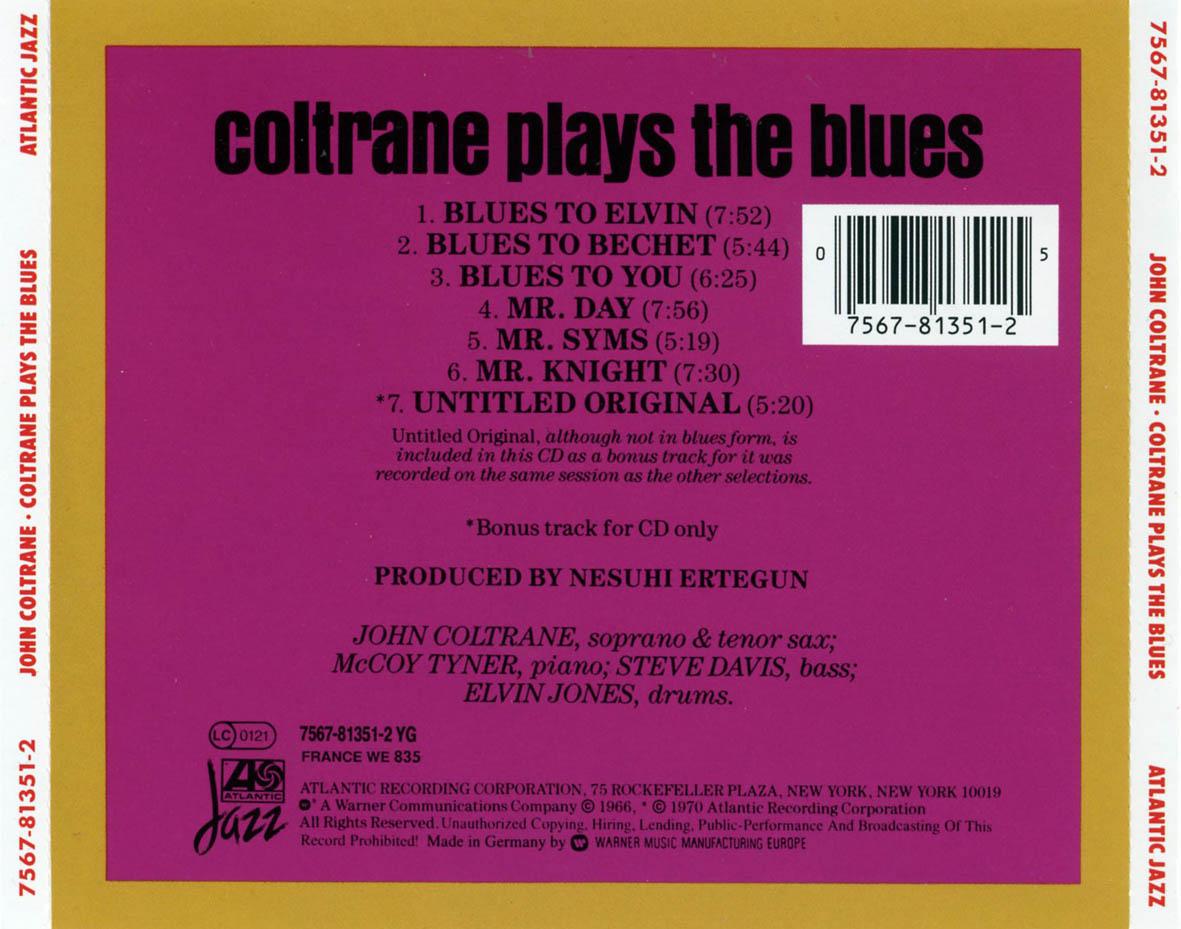 Swingville john coltrane coltrane plays the blues 1962 john coltrane coltrane plays the blues 1962 stopboris Image collections