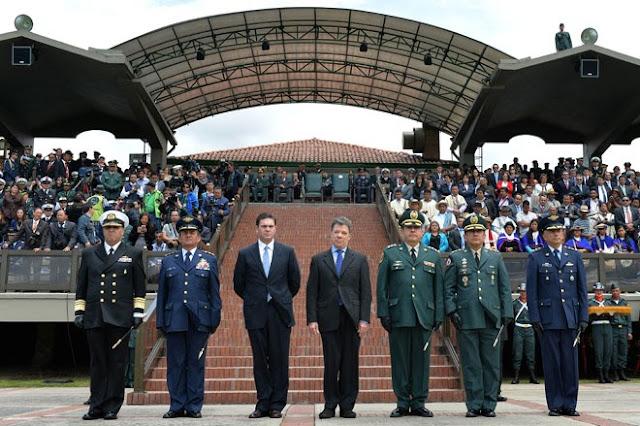 La nueva cúpula de las Fuerzas Militares de Colombia.