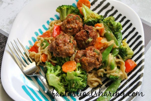 Asian Turkey Meatballs over Easy Thai Noodles | This #recipe is my jam and it has all the most perfect elements for a crazy good dinner!
