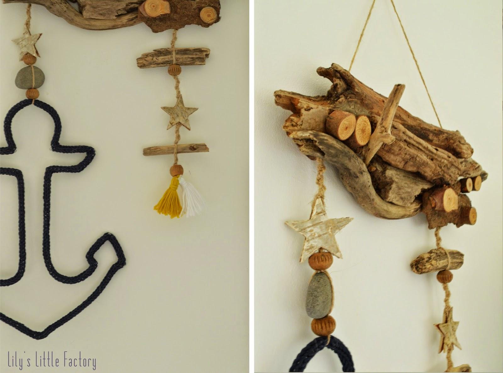 Des souvenirs de plage suspendre tricotin et bois for Que faire avec bois flotte